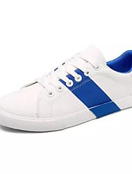 Homens sapatos Tecido Primavera Outono Calçado vulcanizado Tênis para Casual Rosa e Branco Branco/azul
