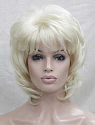 cheap -Synthetic Wig Wavy Layered Haircut Blonde Women's Capless Carnival Wig Halloween Wig Natural Wigs Synthetic Hair