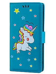 baratos -Capinha Para Sony Xperia XZ Porta-Cartão Com Suporte Flip Estampada Capa Proteção Completa Unicórnio Rígida PU Leather para Sony Xperia