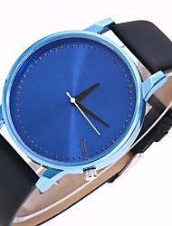 abordables -Hombre / Mujer Reloj de Moda / Reloj de Pulsera Chino Reloj Casual Piel Banda Moda Negro / Blanco