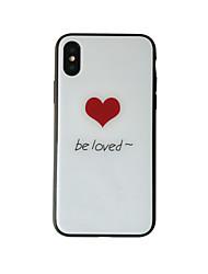 baratos -Capinha Para Apple iPhone X iPhone 8 Antichoque Estampada Capa traseira Coração Rígida Vidro Temperado para iPhone X iPhone 8 Plus iPhone