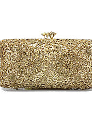 Недорогие -Жен. Мешки Металл Вечерняя сумочка Кристаллы Золотой