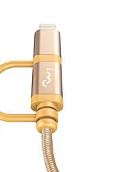 preiswerte -Beleuchtung USB-Kabeladapter Geflochten Schnelle Aufladung Kabel Für iPhone 100 cm Nylon