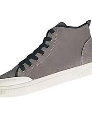 Homens sapatos Pele Nobuck Primavera Outono Conforto Tênis para Casual Preto Cinzento Amarelo
