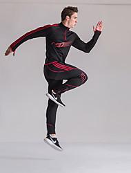 abordables Course-Homme Survêtement - Rouge, Vert, Bleu Des sports Classique Pantalon / Surpantalon / Haut Zippé / Ensemble de Vêtements Camping /