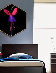 abordables -Botanique A fleurs/Botanique Illustration Art mural,Plastique Matériel Avec Cadre For Décoration d'intérieur Cadre Art Salle de séjour