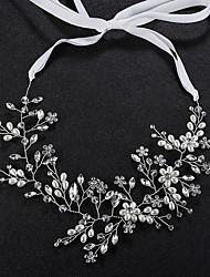 baratos -Pérola / Cristal Headbands com Cristais / Pérolas 1pç Casamento / Roupa Diária Capacete