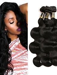 Недорогие -3 Связки Бразильские волосы Естественные кудри Не подвергавшиеся окрашиванию Человека ткет Волосы Ткет человеческих волос Расширения человеческих волос