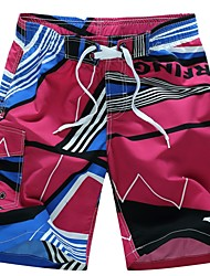 cheap -Men's Straight Chinos Pants - Geometric, Print