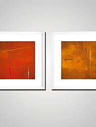 preiswerte -Aufgespannte Leinwandrucke Zeitgenössisch, Zwei Panele Segeltuch Quadratisch Druck Wand Dekoration Haus Dekoration