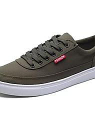Homens sapatos Tecido Primavera Outono Conforto Tênis para Casual Preto Cinzento Verde