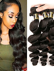 cheap -Peruvian Loose Wave Human Hair Weaves 3pcs 0.15