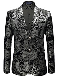 cheap -Men's Sophisticated Plus Size Blazer - Print