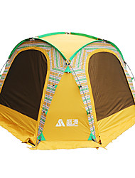 Недорогие -Sheng yuan 5-8 человек Световой тент Один экземляр Палатка Однокомнатная Семейные палатки Складной для Отдых и Туризм Рыбалка Пикник