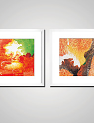 cheap -Stretched Canvas Prints Comtemporary, Two Panels Canvas Square Print Wall Decor Home Decoration