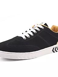 abordables -Homme Chaussures Tulle Printemps Automne Confort Basket pour Décontracté Noir et Or Noir et rouge Noir/blanc
