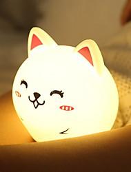 abordables -1pc LED Night Light Blanc Crème Batterie Li intégrée Port USB Soulagement de stress et l'anxiété Rechargeable Capteur tactile Décoration