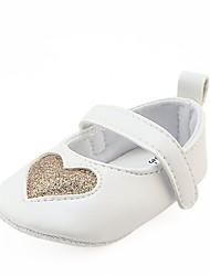 Недорогие -Девочки Обувь Дерматин Весна Удобная обувь / Обувь для малышей / Пинетки На плокой подошве На липучках для Белый / Черный / Розовый