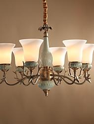 cheap -Antique Artistic Mini Style Chandelier Uplight For Living Room Dining Room 220-240V 110-120V 1500lm Bulb Included