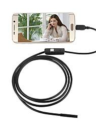 abordables -2in1 Android&Pc 7.0mm lentille hd endoscope 6 led ip67 imperméable à l'eau borescope d'inspection 2m long fil dur