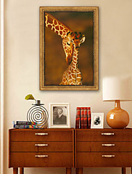 cheap -Animals Illustration Wall Art,Plastic Material With Frame For Home Decoration Frame Art Living Room Indoor