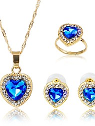 cheap -Women's Crystal Jewelry Set - Gold Plated Basic, Fashion Include Bridal Jewelry Sets Dark Blue For Wedding / Gift
