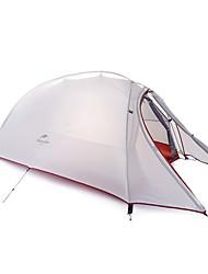Недорогие -Naturehike 2 человека Туристические палатки Двухслойные зонты Карниза Палатка Однокомнатная  на открытом воздухе С защитой от ветра >3000 mm  для силикагель 210*125*100 cm / Дожденепроницаемый