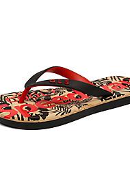 baratos -Homens sapatos Linho Verão Chinelos e flip-flops Tira Trançada para Casual Vermelho Khaki Azul de céu claro Azul Real