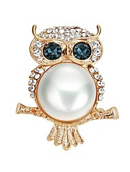 cheap -Women's Cubic Zirconia Brooches - Imitation Pearl, Zircon Sports & Outdoors Brooch Gold For Party / Prom