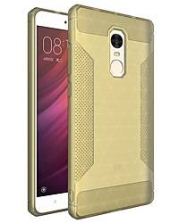 abordables -Funda Para Xiaomi Redmi Note 4 Congelada Funda Trasera Color sólido Suave TPU para Xiaomi Redmi Note 4