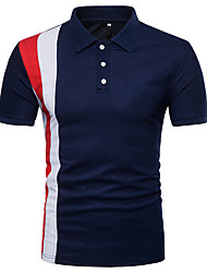 cheap -Men's Street chic Polo Shirt Collar