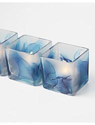 baratos -Estilo simples Moderno/Contemporâneo Vidro Suporte de Vela 1pç, Candle / Candle Holder
