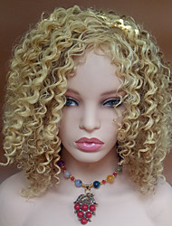 cheap -blonde color kinky curly women fashion european and american synthetic wigs