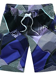 abordables -Hombre Corte Recto / Chinos Pantalones - Geométrico Estampado / Deportes