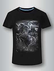 preiswerte -Herrn Tier-Totenkopf Punk & Gothic T-shirt