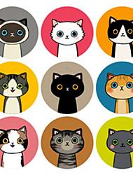 baratos -Animais Etiquetas, Etiquetas e tags - 1 Circular Autocolantes Todas as Estações