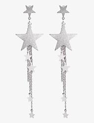 cheap -Women's Tassel Star Drop Earrings - Tassel Fashion Sweet Gold Silver Star Earrings For Party