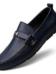 abordables -Homme Chaussures Cuir Cuir Nappa Printemps Automne Confort Mocassins et Chaussons+D6148 pour Décontracté Noir Marron Bleu