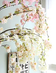 cheap -Artificial Flowers 1 Branch Wedding / European Style Sakura Wall Flower