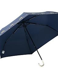 Недорогие -1 Ткань Жен. Все Солнечный и дождливой Ветроустойчивый новый Складные зонты