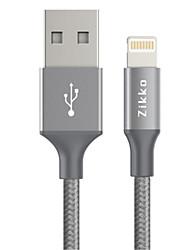 abordables -Eclairage Adaptateur de câble USB Charge rapide Haut débit Tressé Câble Pour iPhone 150 cm TPE
