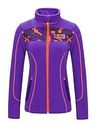 cheap -Women's Hiking Softshell Jacket / Hiking Fleece Jacket / Hiking Jacket Outdoor Autumn / Fall / Winter Keep Warm Top Single Slider Camping
