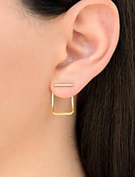 baratos -Mulheres Brincos Curtos - Fashion Dourado / Prata / Ouro Rose Para Diário Feriado