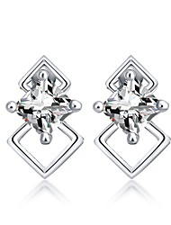 cheap -Women's Cubic Zirconia Stud Earrings - Zircon Korean, Fashion Gold / Silver For Gift / Going out