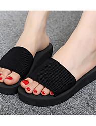 cheap -Women's Shoes EVA Summer Comfort Slippers & Flip-Flops Flat Heel Black / Red