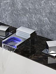 Недорогие -Смеситель для ванны Хром Ванна и душ Керамический клапан