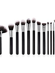 cheap -11pcs Makeup Brushes Professional Blush Brush / Lip Brush / Powder Brush Nylon / Artificial Fibre Brush / Nylon Brush Soft / Full Coverage