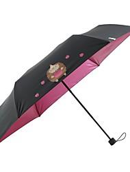 baratos -Tecido Todos Ensolarado e chuvoso / Prova-de-Vento / novo Guarda-Chuva Dobrável
