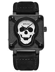 Недорогие -BAOGELA Муж. Модные часы Спортивные часы Китайский Кварцевый Череп Натуральная кожа Группа Череп Мода Черный Коричневый