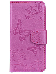 cheap -Case For Motorola MOTO G5 MOTO G5 Plus Card Holder Wallet with Stand Pattern Embossed Full Body Cases Butterfly Hard PU Leather for Moto